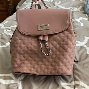 Brand New Mauve G By Guess Backpack/Purse